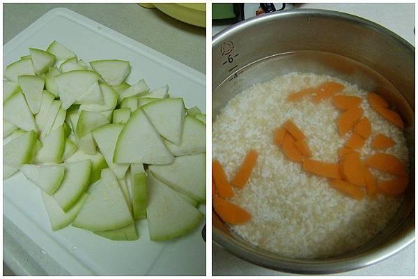 扁蒲(瓠瓜)紅蘿蔔粥