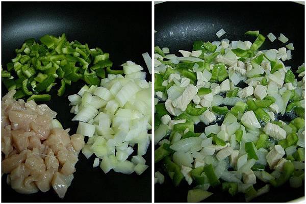 洋蔥青椒炒雞丁