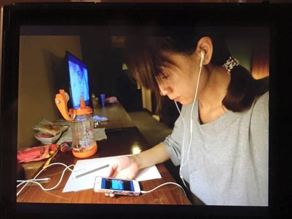 2015-09-07蘭城晶英飯店。在客房內線上上課