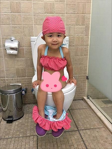 2016-05-27花蓮福容飯店~第一次坐馬桶尿尿