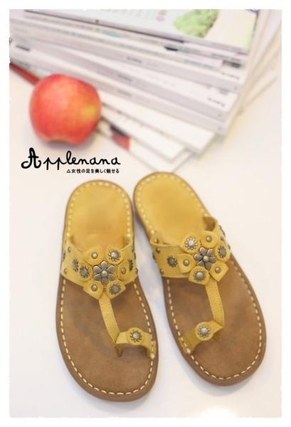 Applenana☆小太陽跟小花朵的相遇夾腳涼鞋。舒舒服服~