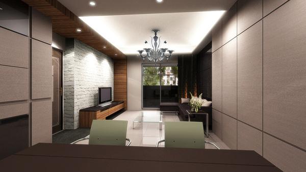 3D-客廳模擬圖
