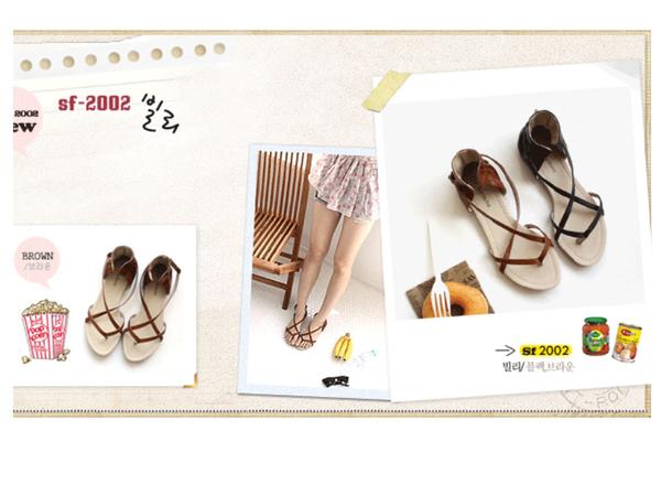 交叉羅馬涼鞋sf2002