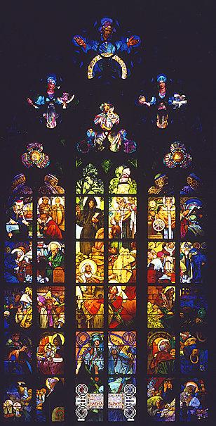 布拉格聖維特斯大教堂彩繪玻璃窗設計1931年.jpg