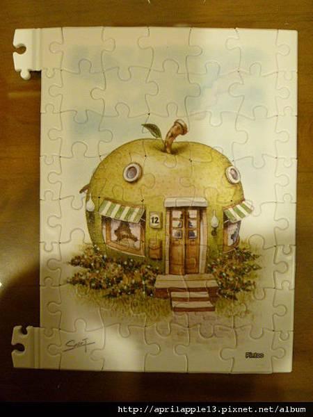 拼完青蘋果屋的邊框