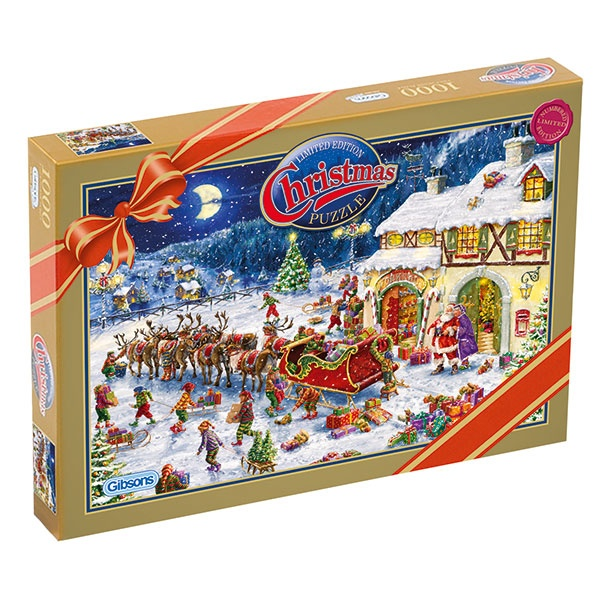 Christmas 2010 Limited Edition Gibsons Puzzle - Santas Little Helpers