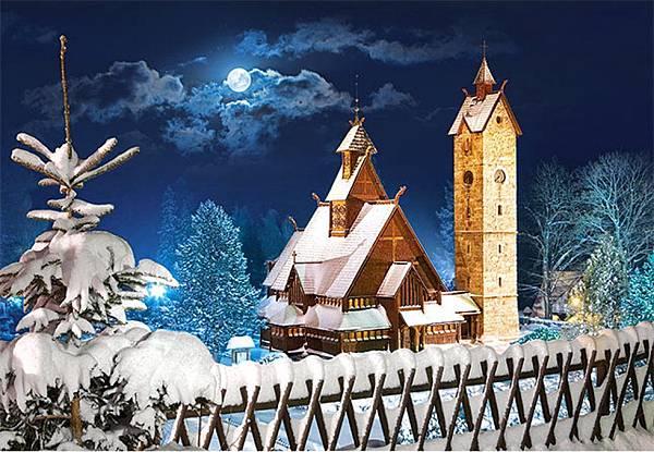 雪中的教堂 WANG CHURCH, POLAND