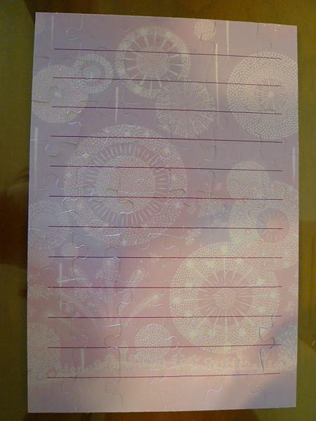 背面的部份可以當成卡片寫