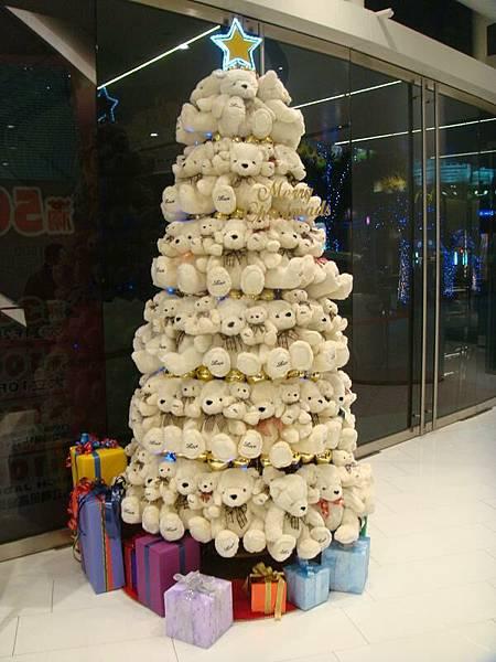 大立小熊聖誕樹