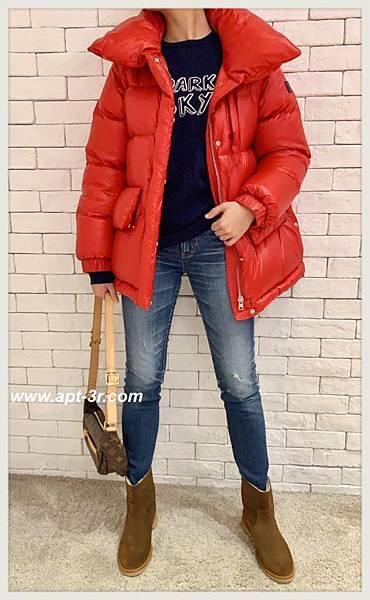 Woolrich Puffy 太空羽絨大衣(紅)2.jpg