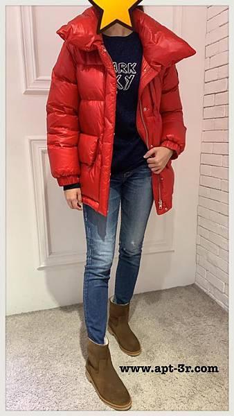 Woolrich Puffy 太空羽絨大衣(紅)3.jpg
