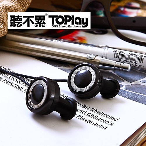 【TOPlay聽不累 】磁吸式智慧通話耳機-巴洛克黑