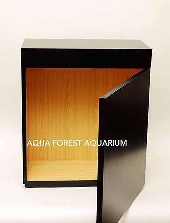Wood Cabinet- Black-2