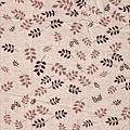 褐色葉子印花布