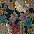 靛藍大菊花印花布