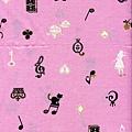 愛麗絲剪影鋼琴直幅印花棉布-上幅