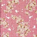 粉紅櫻花兔子印花布