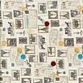巴黎鐵塔郵票印花布