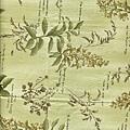 淺綠植物印花棉布