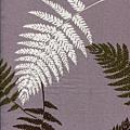 芋紫色蕨葉印花布