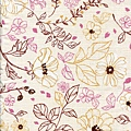 花草插畫印刷棉布