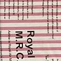 粉紅條紋旅行風印花布
