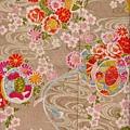 菊花流紋棉布