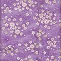 淺紫流水櫻花仿古布