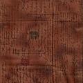 深褐色信件風格印花棉布