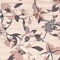粉紅植物金線印花布
