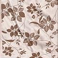 褐色藤蔓葉子印花棉布