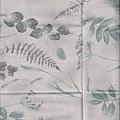 藕色葉子印花布