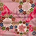櫻花菊花楓葉燙金印花布
