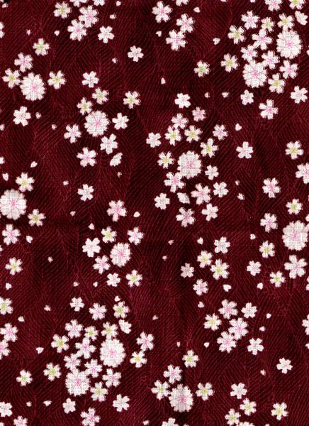 褐色紋路櫻花布