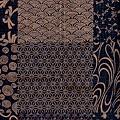 深靛色雜花紋棉布