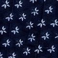 深藍假紮染印花布