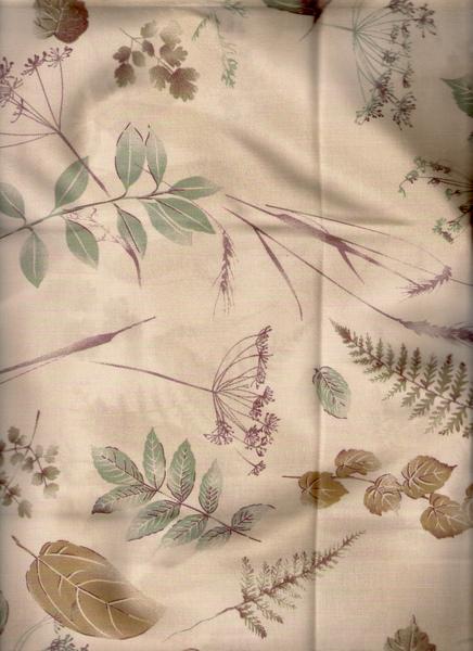 葉子鵝黃棉布