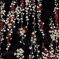 流水紋剪影風格印花布
