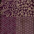 紫色雜花紋棉布