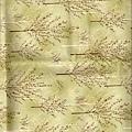 綠色樹印花布