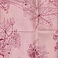 葉子粉紅棉布