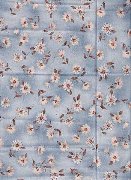 藍色小雛菊印花棉布