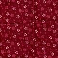 暗紅小櫻花棉布