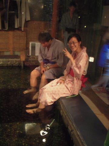 大江戶溫泉內的小魚喔