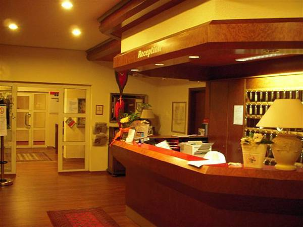 The bar of the hotel