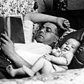 傅尼葉與父親