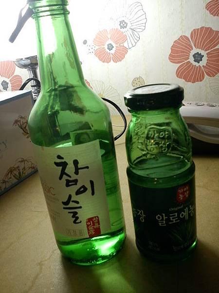 Day1-真露酒+蘆薈汁