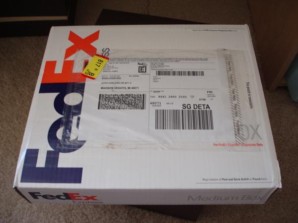 用FEDEX寄的兩天就到了