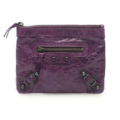 mini purse in Raisin