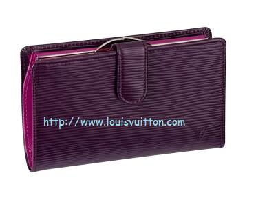 LV EPI French Purse in Cassis